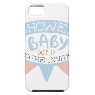 Baby Shower Invitation Design Template With Umbrel iPhone 5 Cover