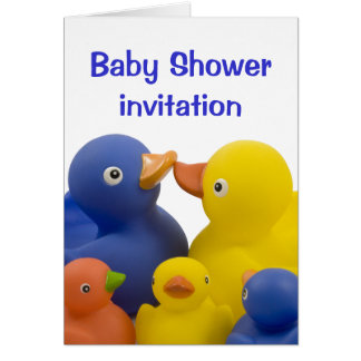 Baby shower invitation -  Duck Family Group Greeting Card