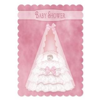 Baby Shower Invitation - Feminine Bassinet