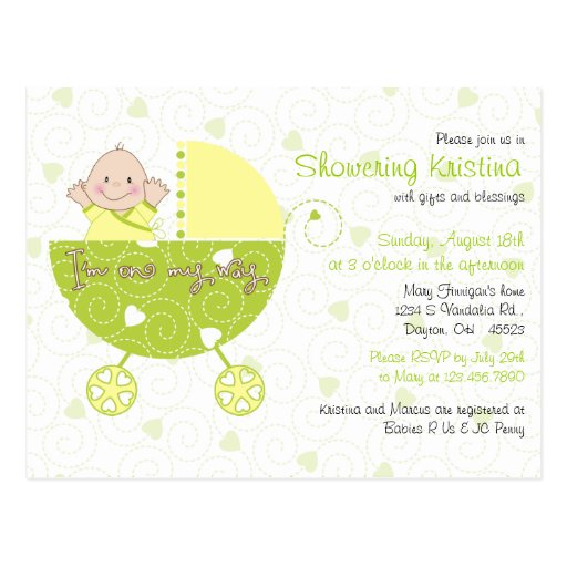 Baby Shower Gifts Gender Unknown ~ Baby shower invitation for gender unknown carriage zazzle
