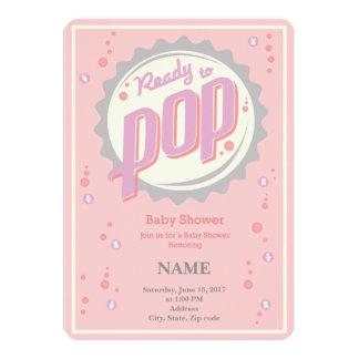 Baby Shower Invitation (Girl) - Ready to Pop