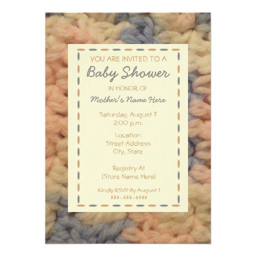 Baby Shower Invitation - Handmade Baby Blanket