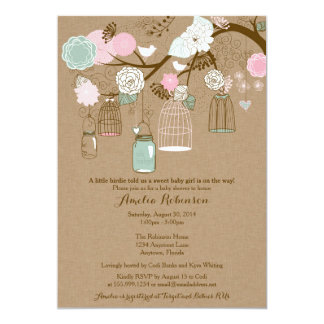 Baby Shower Invitation - Hanging Cages & Jars