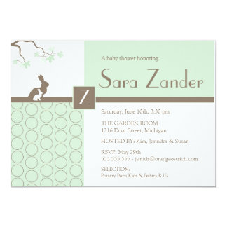 Baby Shower Invitation - Mother and Baby Bunny