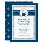 Baby Shower Invitation | Nautical Preppy Whale