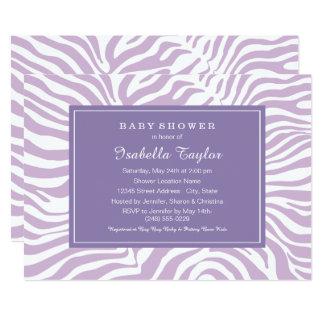 Baby Shower Invitation | Purple Zebra Style