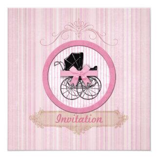 Baby Shower Invitation Shabby Vintage Pink