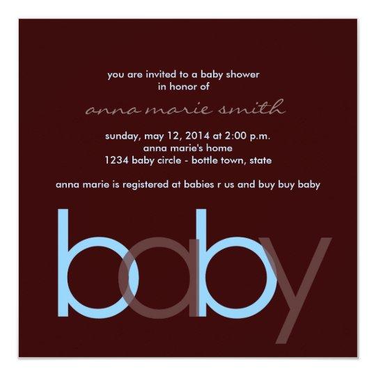 Baby Shower Invitation Square