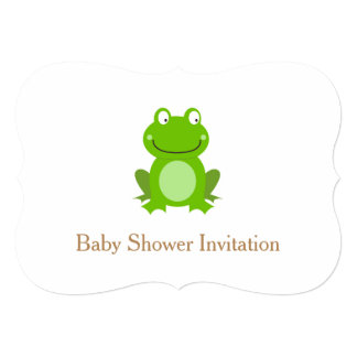 Baby Shower invitation with Cute green Frog