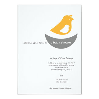 Baby Shower Invitations - A LIttle Bird told me