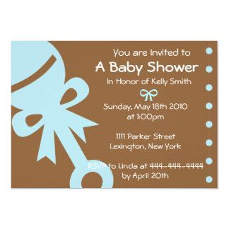 "Baby Shower Invitations, Invites, Announcements 5"" X 7"" Invitation Card"