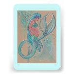 Baby shower invitations pregnant mermaid by Renee