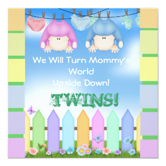 BABY SHOWER Invitations UNISEX TWINS!