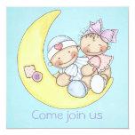 """Baby Shower Invite 5.25"""" Square Invitation Card"""
