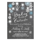 Baby Shower invite Baby it's cold outside Boy