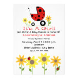 Baby Shower Invite - Ladybugs and Wildflowers