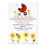 Baby Shower Invite - Ladybugs and Wildflowers
