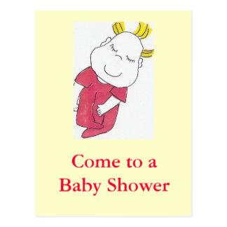 baby shower invite postcard