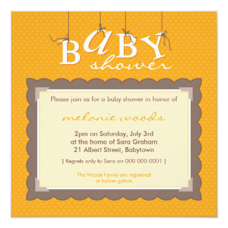 BABY SHOWER INVITES :: baby letters 1SQ