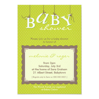 BABY SHOWER INVITES :: baby letters 2P