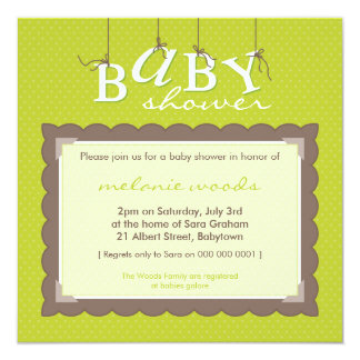 BABY SHOWER INVITES :: baby letters 2SQ