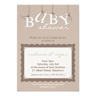 BABY SHOWER INVITES :: baby letters 3P