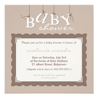 BABY SHOWER INVITES :: baby letters 3SQ
