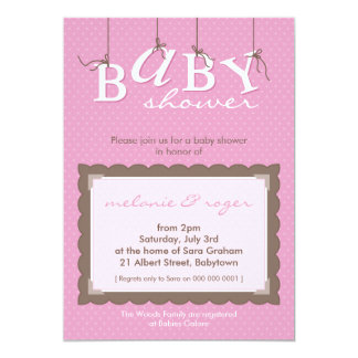 BABY SHOWER INVITES :: baby letters 4P