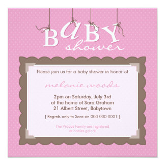 BABY SHOWER INVITES :: baby letters 4SQ
