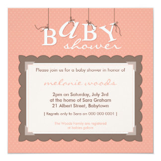 BABY SHOWER INVITES :: baby letters 5SQ