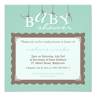 BABY SHOWER INVITES :: baby letters 6SQ