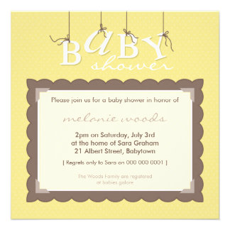 BABY SHOWER INVITES baby letters 7SQ
