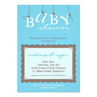 BABY SHOWER INVITES :: baby letters 8P
