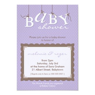 BABY SHOWER INVITES :: baby letters 9P