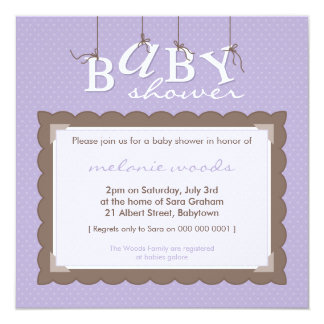 BABY SHOWER INVITES :: baby letters 9SQ
