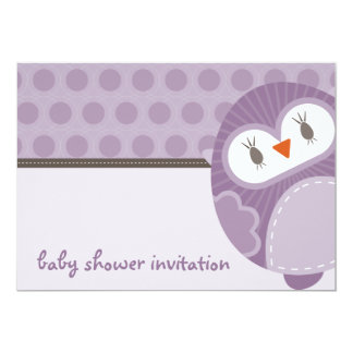 BABY SHOWER INVITES :: dancing owl 1L