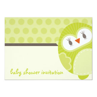BABY SHOWER INVITES :: dancing owl 2L