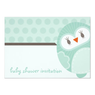 BABY SHOWER INVITES :: dancing owl 3L