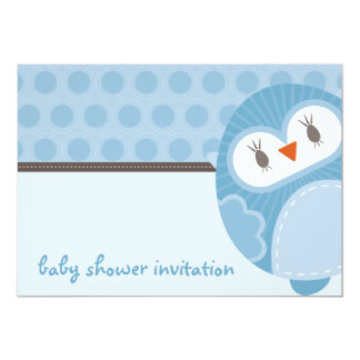 BABY SHOWER INVITES :: dancing owl 5L