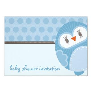 BABY SHOWER INVITES :: dancing owl 5L