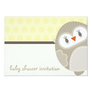 BABY SHOWER INVITES :: dancing owl 6L