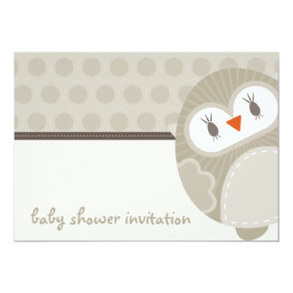 BABY SHOWER INVITES :: dancing owl 9L