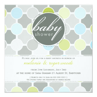 BABY SHOWER INVITES :: fizzy spots 1SQ