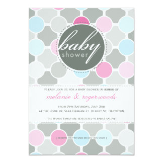BABY SHOWER INVITES :: fizzy spots 2P