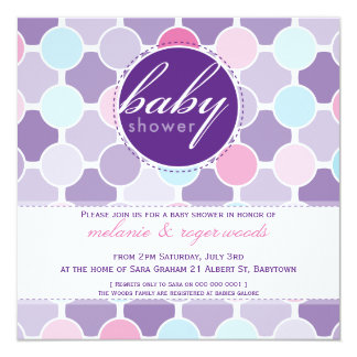 BABY SHOWER INVITES :: fizzy spots 7SQ