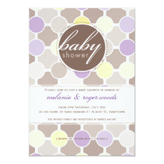 BABY SHOWER INVITES :: fizzy spots 8P