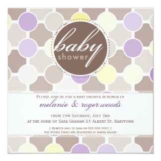 BABY SHOWER INVITES :: fizzy spots 8SQ