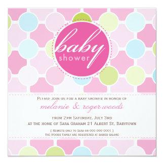 BABY SHOWER INVITES :: fizzy spots 9SQ