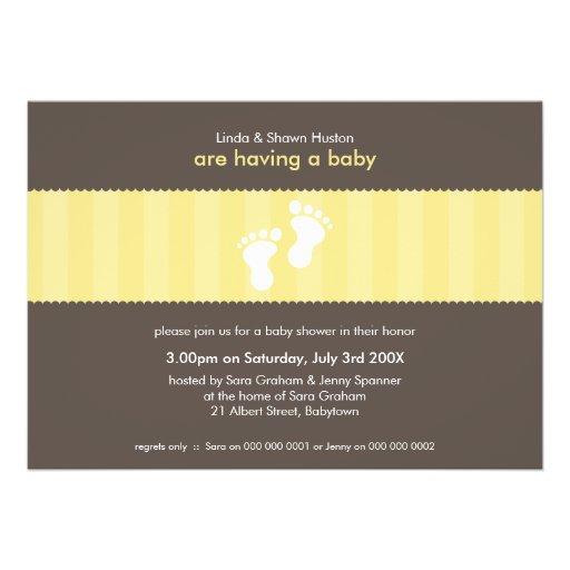 BABY SHOWER INVITES :: happy feet 6L
