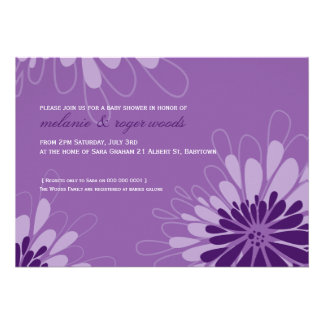 BABY SHOWER INVITES modern bloom 7L